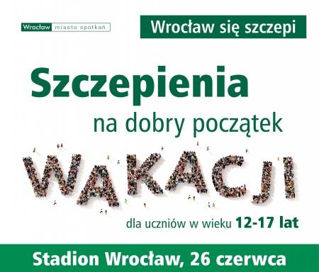 Szczepienia pod patronatem Prezydenta Wrocławia !!!